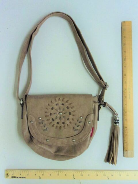 2bbe01be8769 Union Bay Tan Taupe Brown FRINGE Tassel Purse Hand Bag CrossBody - FLASH  SALE