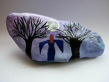 Forest Goddess Worshipping the Full Moon Stone Ornament. Pagan/Wiccan/Altar