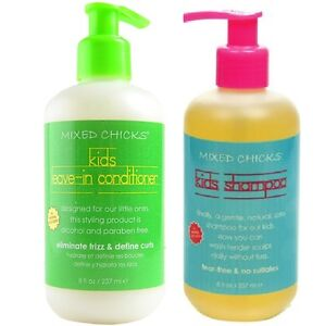 Mixed-Chicks-Frizz-Cnotrol-Kids-Leave-In-Conditioner-amp-Shampoo-Each-Bottle-237ml