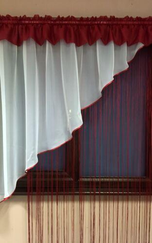 Hermosa Voile Cortina de Red Blanca con cortinas de cadena