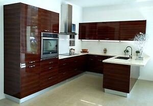 Details about High Gloss Lacquer/Acrylic/Laminate Doors For Kitchen  Cabinets European Style