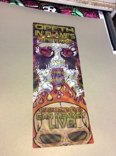 OPETH IN FLAMES RED FANG GAS MONKEY LIVE ROCK POSTER KUHN GIG ART