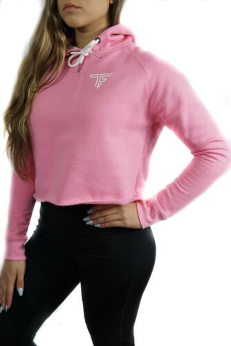 Pink TF Womens Cropped Hoodie Gymshark, Alphalete, TF