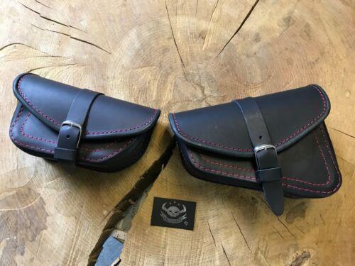 Set Seitentaschen Harley Davidson VROD V-Rod Schwarz Rot rote Nähte Edition