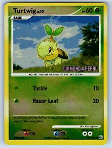 1x Turtwig 103//130 Reverse Holo STAMPED Diamond /& Pearl Pokemon Card