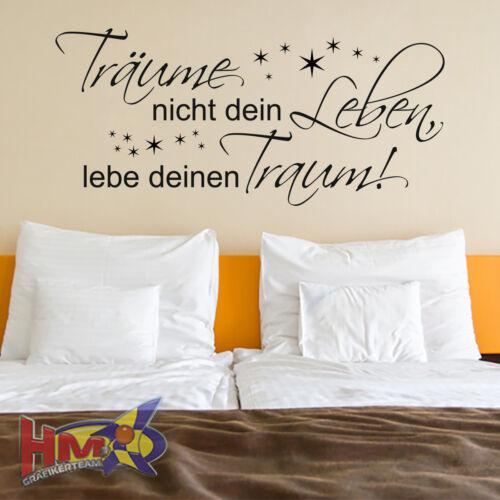 200 x 91 cm WT-0069 HM© Wandtattoo Sprüche Zitate Träume nicht dein Leben