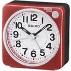 Seiko QHE118R Bedside Alarm Clock Red - BRAND
