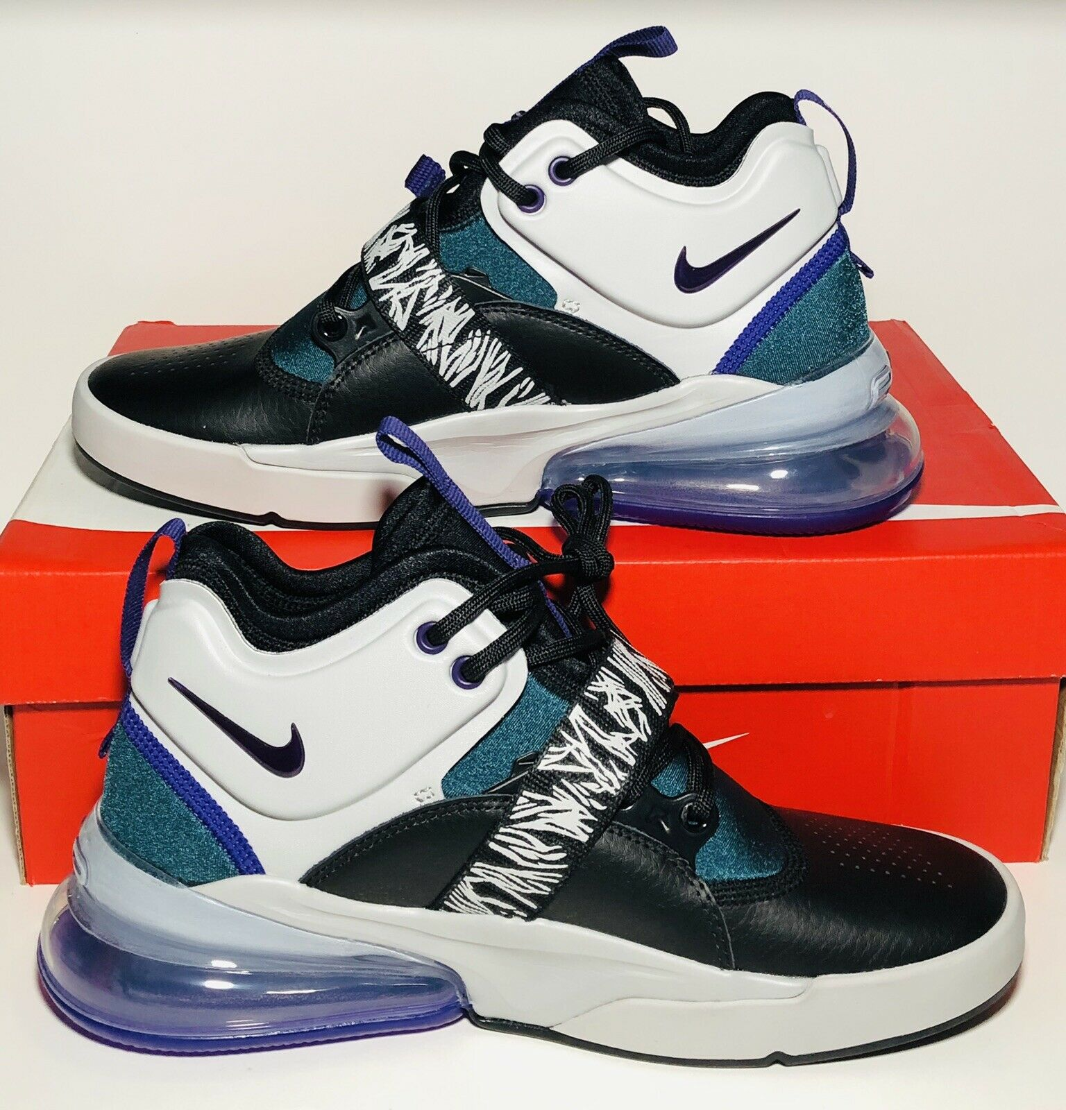 New Nike Air Force  270 GS Carnivore nero Court viola Zebra Dimensione 6Y Donne 65533;s 7.5  outlet online