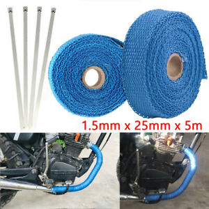 5m Thermal Exhaust Tape Pipe Wrap Header Heat Resistant Cloth for Car Motorcycle