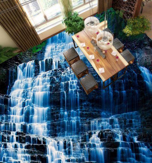3D montagne acqua Pavimento Foto Wallpaper Murales Muro Stampa Decalcomania