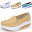 Indexbild 1 - Damen Rund Toe Wedge Low Heel Schuhe Platform Krankenschwester Loafer gr.34-41