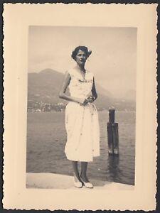 YZ1187-Portese-Lago-di-Garda-Moda-Fotografia-d-039-epoca-1956-vintage-photo