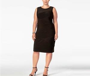 NEW-NWT-Calvin-Klein-Woman-039-s-Plus-Size-Black-LBD-Jersey-Bandage-Sheath-Dress-22W