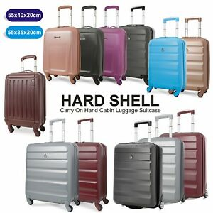 Lightweight-Hard-Shell-Carry-On-Hand-Cabin-Luggage-Suitcase-55x35x20-55x40x20-cm