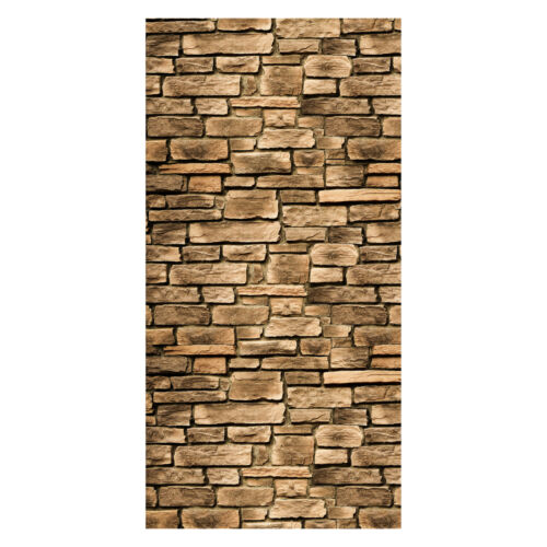 Tür-Aufkleber Türtapete Steinmauer Tapete Wandbild M0565 Türbild