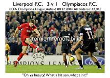 LIVERPOOL FC v OLYMPIACOS 2004 CHAMPIONS LEAGUE STEVEN GERRARD WONDER GOAL PRINT