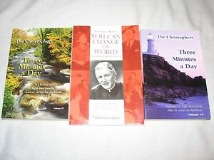 The-Christophers-Religion-Book-Lot-Three-minutes-a-Day-You-can-Change-World-ppk