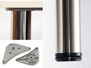 4er-Set-Tischbeine-Tischbein-Moebelfuss-710mm-Edelstahl