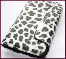 Samsung Galaxy S2 D710 (Sprint) - Black Leopard Cheetah Wallet Flip Pouch Case