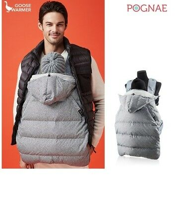 baby carrier winter whether cover warmer-iron gray POGNAE