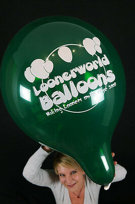 "5 x Loonerworld Tuftex 17"" Luftballons *OUR NEW LOGO BALLOON*TUF-TEX*CRYSTAL*"