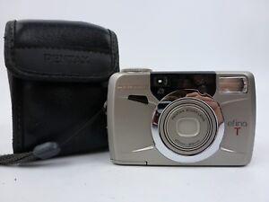 Retro-Pentax-efina-T-35mm-Point-amp-Shoot-Camera-amp-Case-FREE-UK-P-amp-P