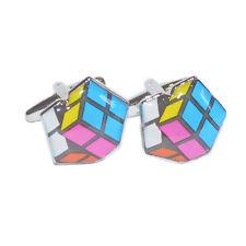 Cute Puzzle Cube Cufflinks
