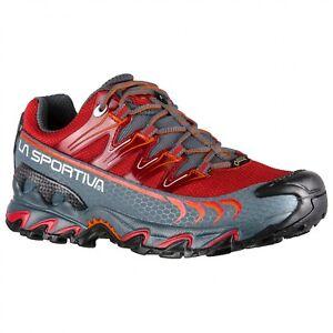 La Sportiva Ultra Raptor gtx scarpa donna trail running rosso garnet slate