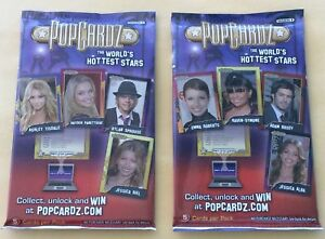 "Lot Of 2 2008 PopCardz Trading Cards Sealed Packs ""HOT PACKS"""
