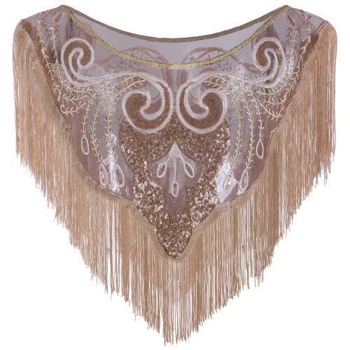 Bridal Wedding Evening Shawls Wraps Sequin Women/'s Cape Up Shrug For 1920 Gatsby