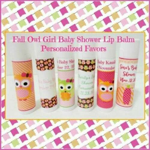 FALL Themed Baby Girl Shower Lip Balm Favors Set of 25-Free Personalization