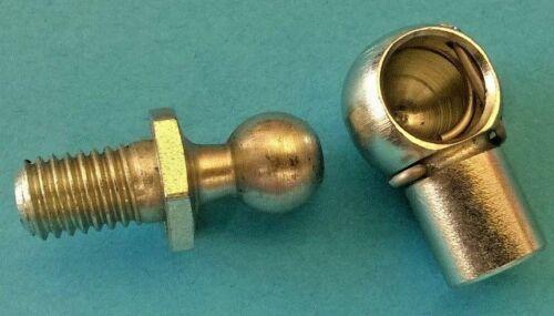 Gas puntal Extremo Bola articulaciones M8 con Ø10 Ball Portón Trasero Capó Par 4367//P1802
