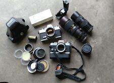 Lot MINOLTA SRT101 & XD11 35MM FILM CAMERAS +  LENSES ++!