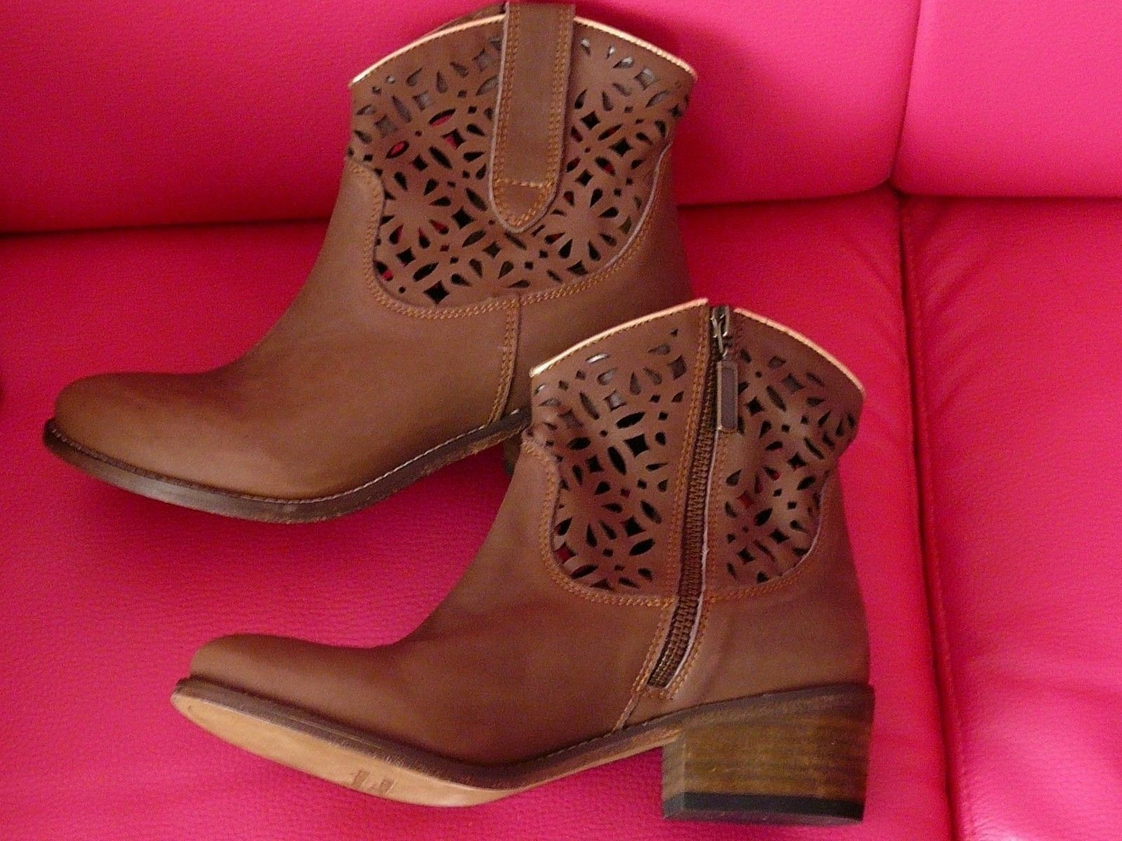WESTERN  botas    TEXANI mujer  Talla 37  new by E.G.J. all leather made  78fd08