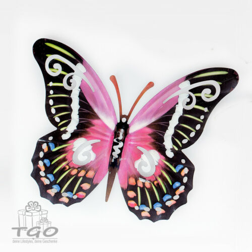 Formano Wanddeko Schmetterling 24cm 36cm 44cm pink orange rot
