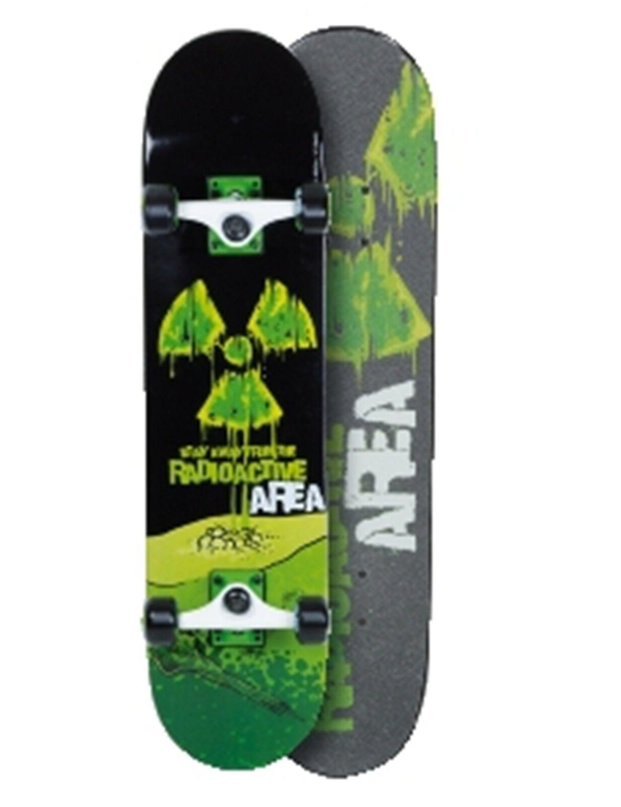 Skateboard AREA Radioactive Grün schwarz Komplett Board Board Board Neu 981a30