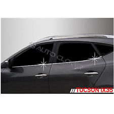 Chrome Window Line Sill Trim 4pc 1Set For 10 11 12 13 14 Hyundai Tucson ix35