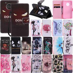 For-Motorola-Moto-G4-G5-Plus-Flip-Leather-Stand-Wallet-Card-Holder-Case-Cover