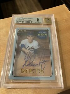 2017-Clearly-Authentic-Nolan-Ryan-RC-Rookie-Reprint-Auto-40-45-BGS-9-10-RANGERS