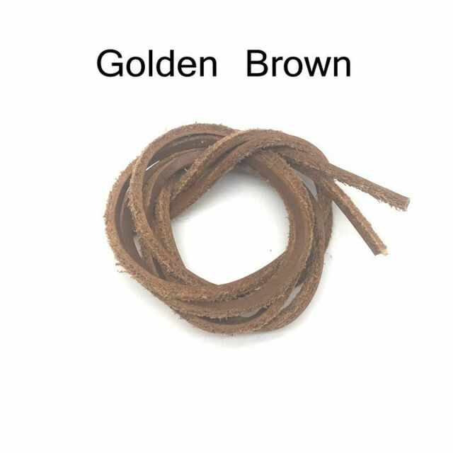 """New 72/"""" Length Rawhide Leather Shoe Laces String Shoelaces Bootlaces Light Brown"""