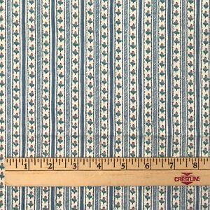1-4-Yds-Waverly-Fabric-Cotton-Chintz-Sturbridge-Village-Sewing-Floral-Stripe