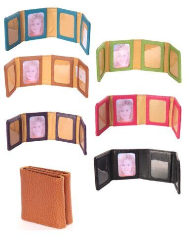 LAURIGE cuir quatre Pliable Mini Compact Voyage Porte-photos-couleurs diverses