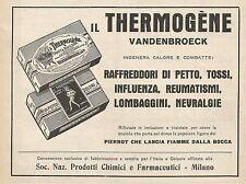 Z0236 Thermogène Vandenbroeck - Pubblicità del 1928 - Advertising