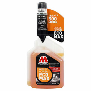 Millers-Oils-Diesel-Power-Ecomax-Fuel-Additive-Treatment-500ml-0-5L-NEW-IMPROVED