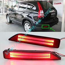 2x Car LED Brake Tail Light LED Red Rear Bumper Fog Lamp For Honda CRV 2007-2009
