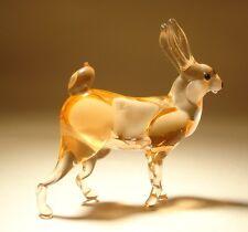 """Blown Glass Figurine """"Murano"""" Art Animal Hare BUNNY Rabbit"""