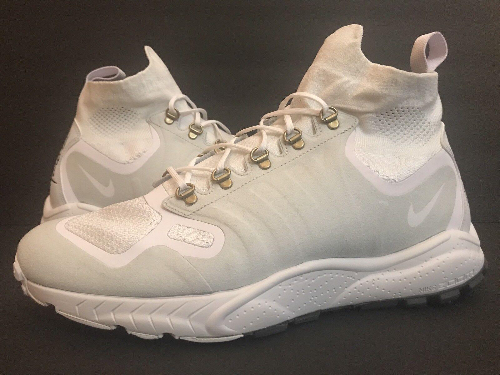 Nike Zoom TALARIA Mid FK MNS 856957-100 White PurePlatinum Trainer Sz 10