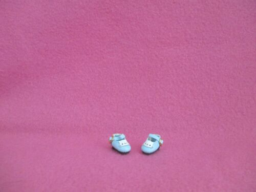 BLUE MARY JANE DOLL SHOES WHITE KITTY FOR 1//8 MIDDLE BLYTHE OB11 1//12 BJD