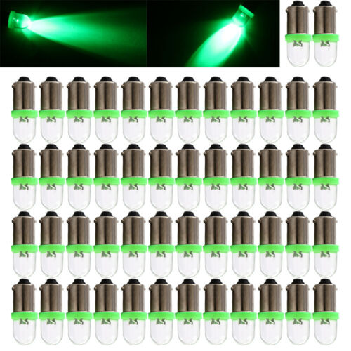 50 Pcs Green BA9S Socket Car Led Light Lamps Clearance Auto Dashboard Blubs 12V
