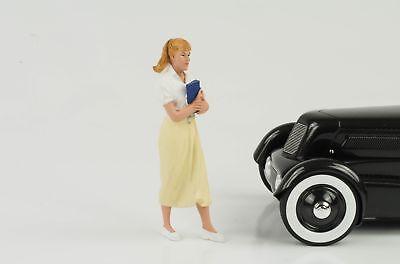 50s 50x Style Frau Girl Figura Figure Jutta 1:18 American Diorama Viii No Car Rimozione Dell'Ostruzione